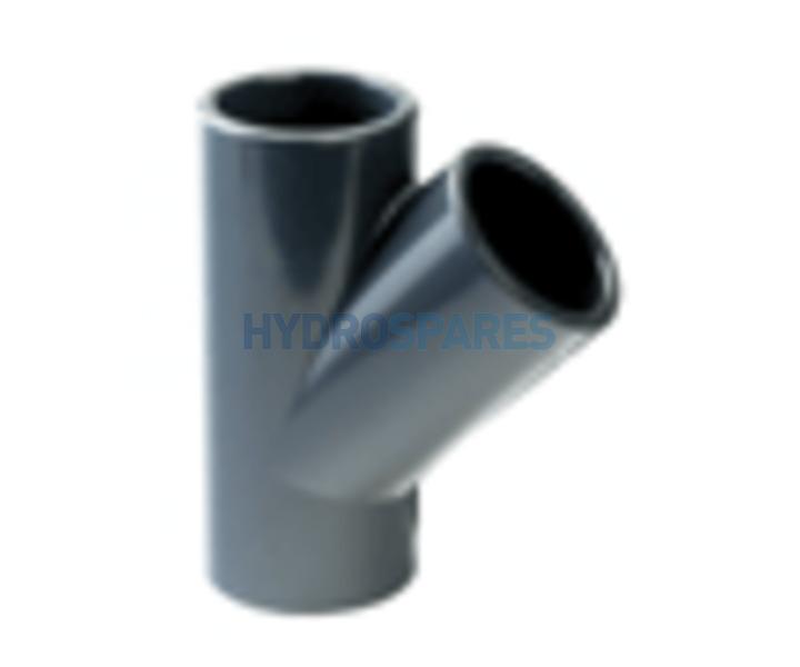 Pvc Y Piece 45 176 Equal Metric 50mm Fittings Hot Tub