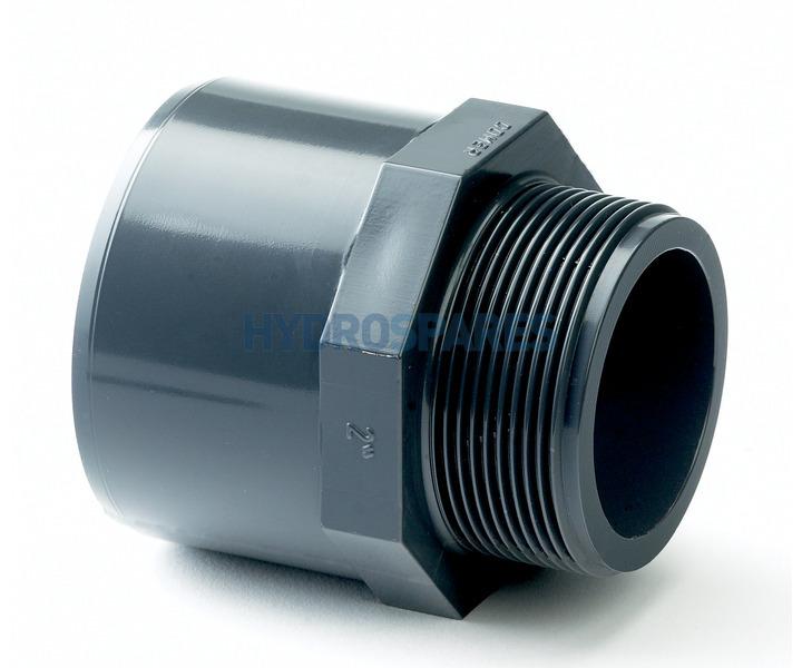 Pvc Adaptor Glued X Threaded Spigot 40mm F 50mm M X