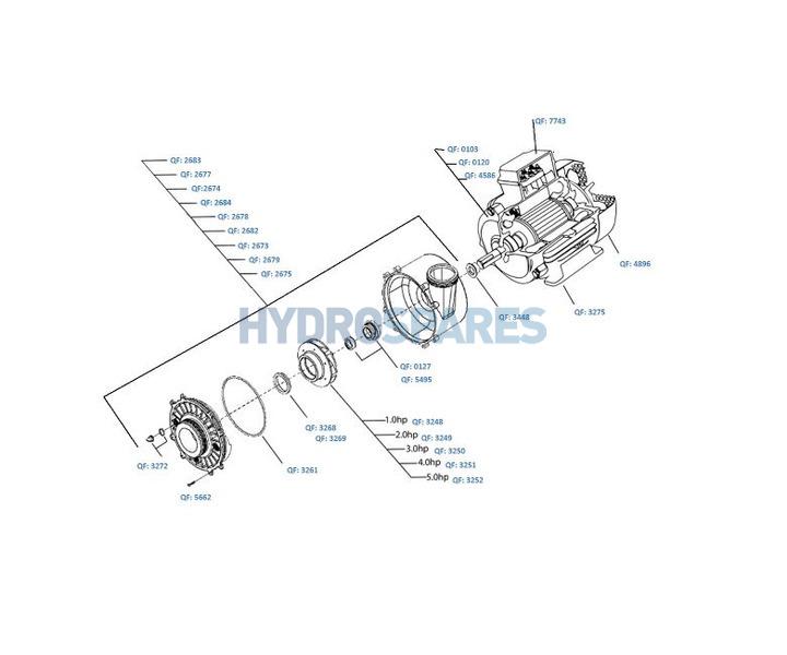 Waterway - Executive 48F Pump Series - Spares