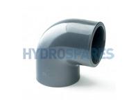 PVC Equal Elbow 90° - Plain x Threaded