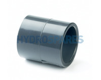 "1.50"" PVC Socket Coupler - Equal - Grey"