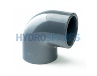 "3.00"" Inch PVC Elbow 90° - Equal  Grey"