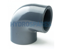 PVC Elbow 90° - Glued x Threaded Socket