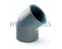 "1.00"" PVC Elbow 45° - Equal  Grey"