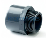 Pipe Adaptor Plain x Threaded - PVC - Socket /Spigot x Threaded Spigot