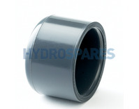 2.00 Inch PVC End Cap - Grey