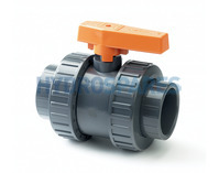 "PVC Ball Valve - Double Union - 2.0"" Grey"