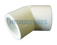 Elbow 45° PVC plain