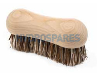 Wooden scrubbing brush