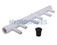 Waterway Water/Air Manifold 6 Barb