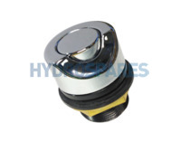 Hydrospares Air Button - Chrome Metal 40mm Ø 45° Cut