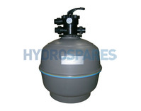 "Waterco Thermoplastic Top Mount Sand Filter 18"" Tank"