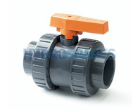 PVC Ball Valve Double Union 20mm Grey