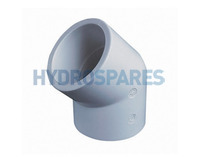 1-1/2 Inch ABS Elbow 45° - Equal