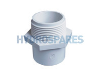 "2.00"" Inch ABS Hex Nipple  - Spigot x BSP Threaded"