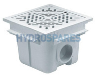 Astral Square Main Drain with ABS Grille