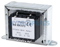 Pro 50VA 2 Output Chassis Mounting Transformer, 12V ac