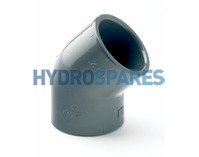 "0.50"" Inch PVC Elbow 90° - Equal  Grey"