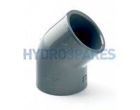 "0.50"" Inch PVC Elbow 45° - Equal  Grey"