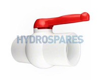 "CMP - Ball Valve - Two-Ways - 1.5"" - Red Handle"