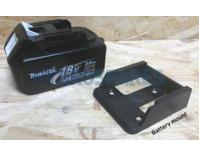 Power tool battery mount for Makita 18V - 2 pack - Black