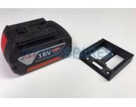 Power tool battery mount for Bosch 18V - 5 pack - Black
