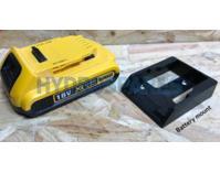 Power tool battery mount for DeWalt XR - 2 pack - Black