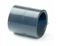 "4.00"" PVC Socket Coupler - Equal - Grey"