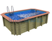 X Stream Wooden Exercise Pool 2.4 x 3.9 M