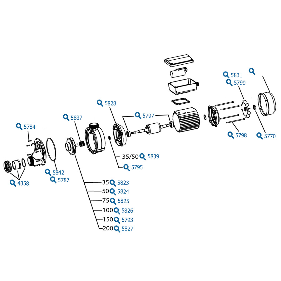 Lx Ja100 100hp Chinese Hot Tub Pump For And Spa Parts Spares Accessories Packs Equipment Spare Part Diagram