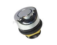 Hydrospares Air Button - Chrome Metal 40mm Ø 45° Cut