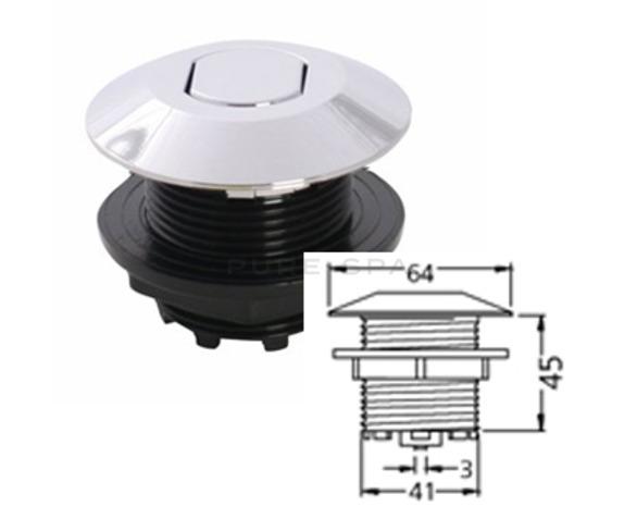 Hydrospares Air Button - Chrome 64mm Ø