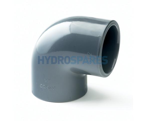 50mm PVC Elbow 90° - Equal