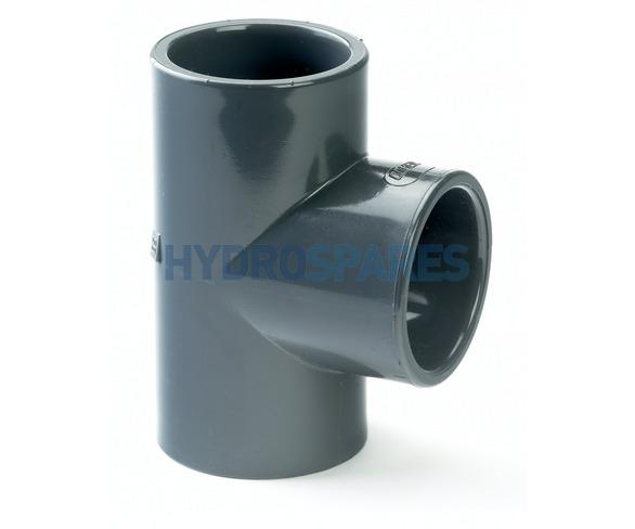 "3.00"" PVC Tee - Equal - Grey"