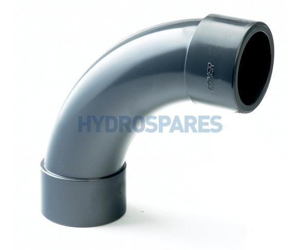 50mm PVC Swept Elbow 90° - Equal