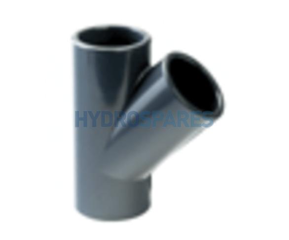 2.00 Inch PVC Y Piece 45° - Equal