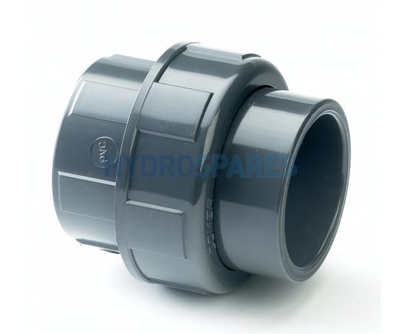 """PVC Pipe Union 2.0"""" Soc/Soc"""