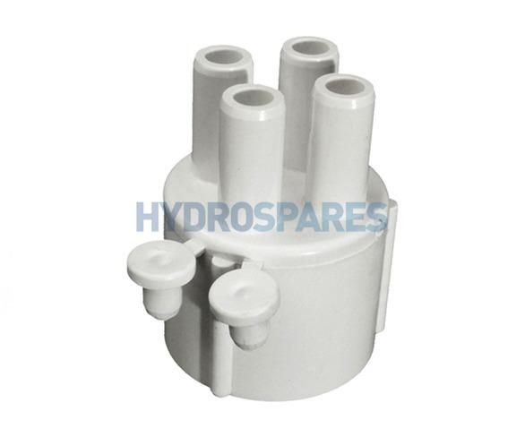PVC Manifold Cap - Socket - Glued x Barbed