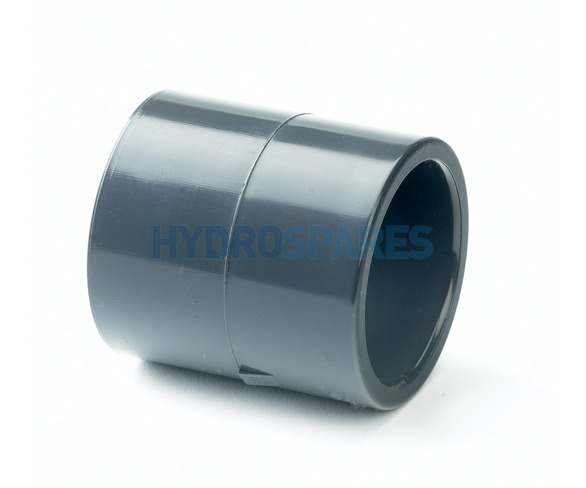 Coupler Straight IMP - Equal PVC - Grey