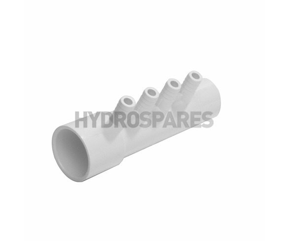 "Water/Air Manifold 1.0"" Soc/Spg x 3/8"" Ribbed Barb"