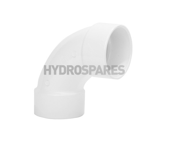 2-00 Inch PVC Swept Elbow 90° - Equal