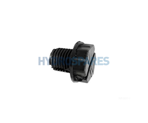 "Waterway 3/8"" Quarter Slot Drain Plug"
