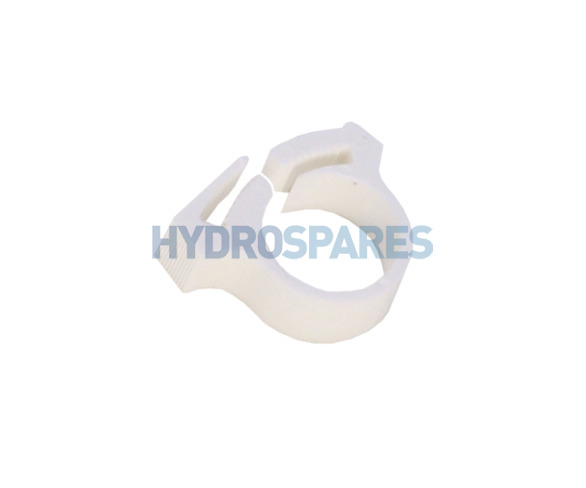Hydrospares Pipe Clip - F Type White