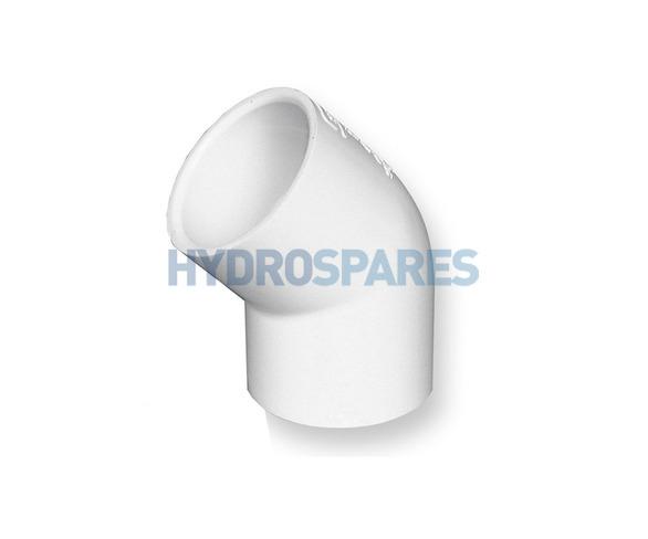 3/4 Inch PVC Elbow 45° - Equal