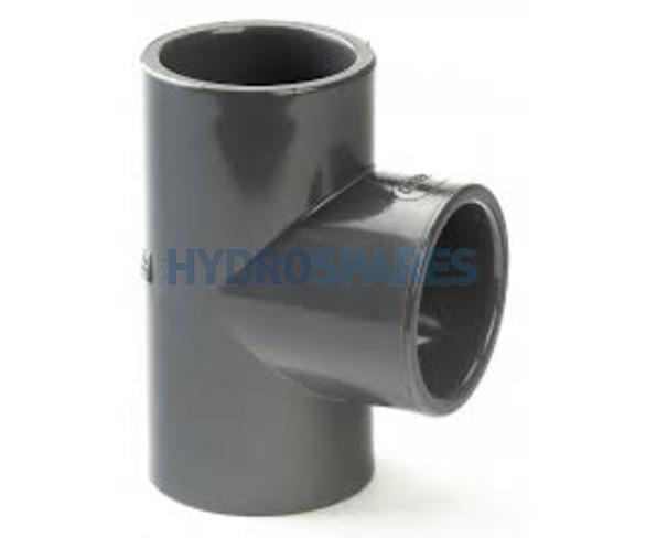 "1.00"" PVC Tee - Equal - Grey"