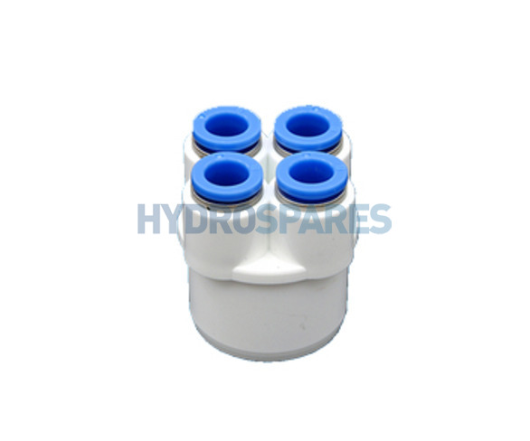 Hydrospares End Cap with 4 Push Fit conections