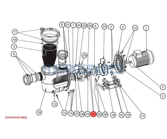 Nut M10 (No. 20) Hydrostar MKIII