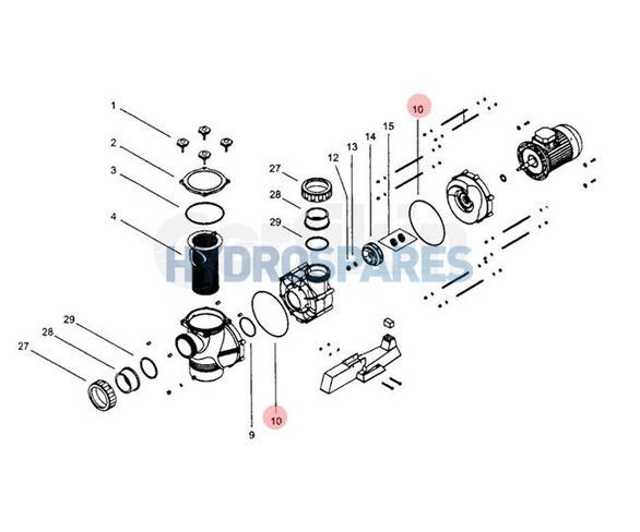 Body o-ring - Hurricane Pump CP400 B