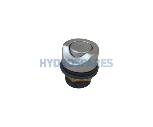 Delfin Air Button - Chrome Metal - Satin Fishish - 40mmØ 45° Cut