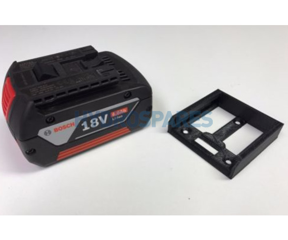 Power tool battery mount for Bosch 18V - 5 pack - Black